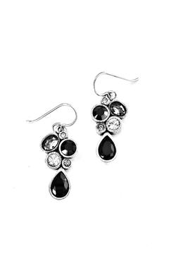 Shoptiques Product: Bezeled Crystal-Cluster Earrings