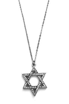 Patricia Locke Star-Of-David Pave Necklace - Alternate List Image