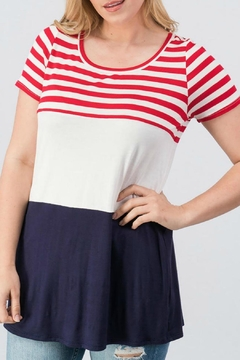 Trend:notes Patriot Colorblock Tee - Alternate List Image
