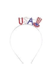 Riah Fashion Patriot Rhinestone Headband - Product Mini Image