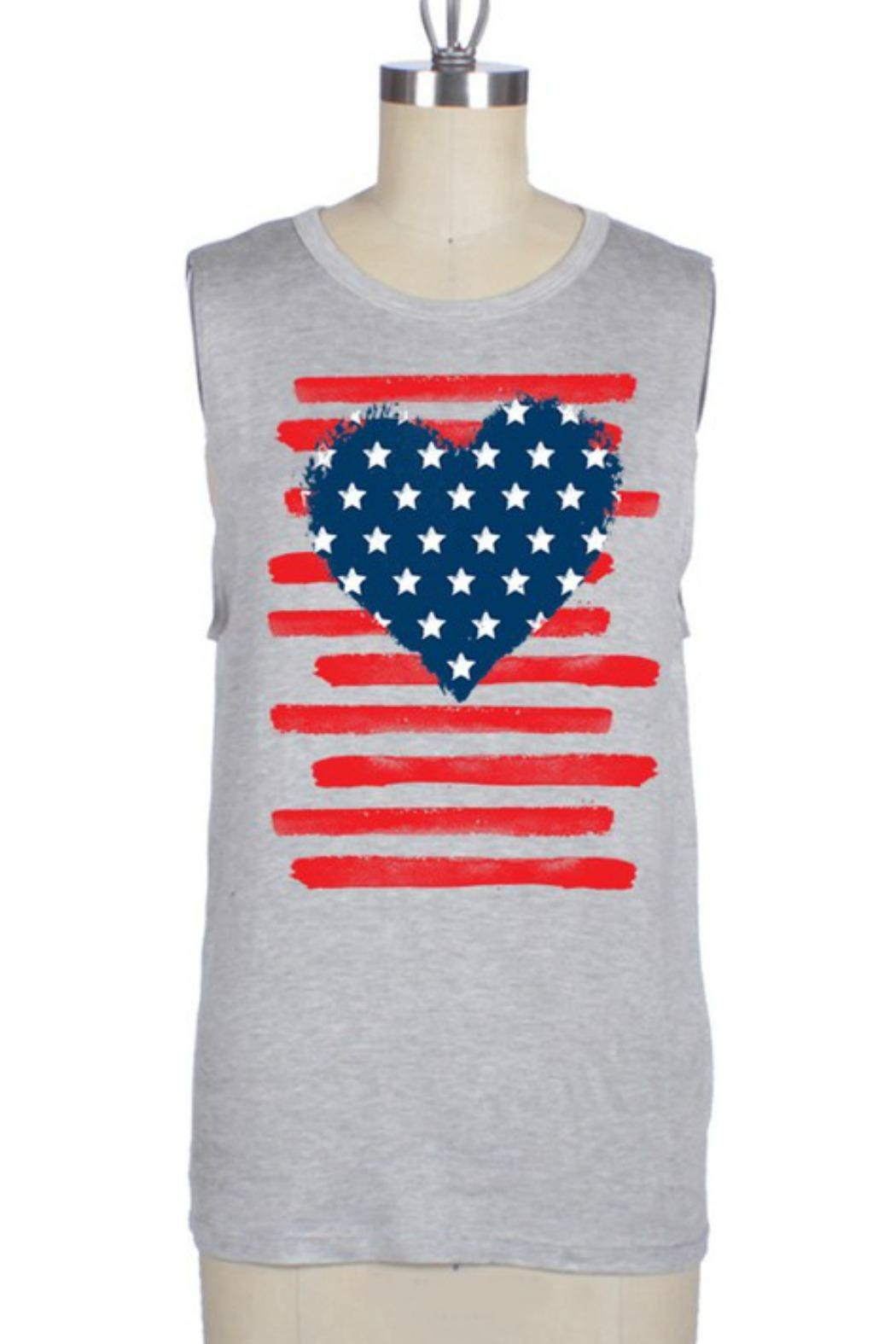 Color Bear Patriotic Heart Tank - Front Cropped Image