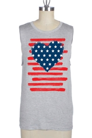 Color Bear Patriotic Heart Tank - Front cropped