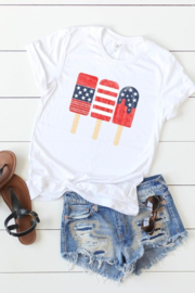 kissed Apparel Patriotic Popsicles graphic tee - Front cropped