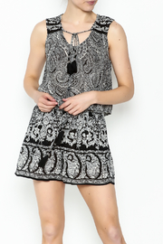 Patrons of Peace Button Up Tank - Front cropped