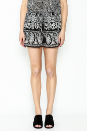 Patrons of Peace Print Shorts - Front full body