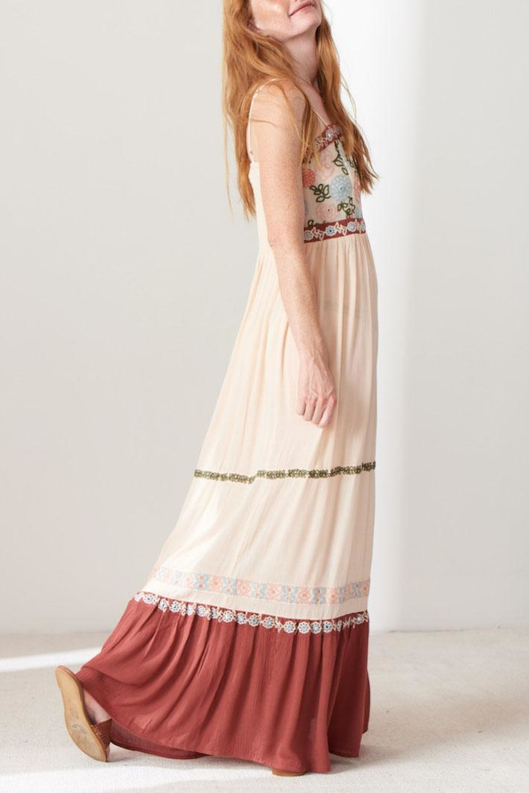 Patrons of Peace Embroidered Maxi Dress - Front Full Image