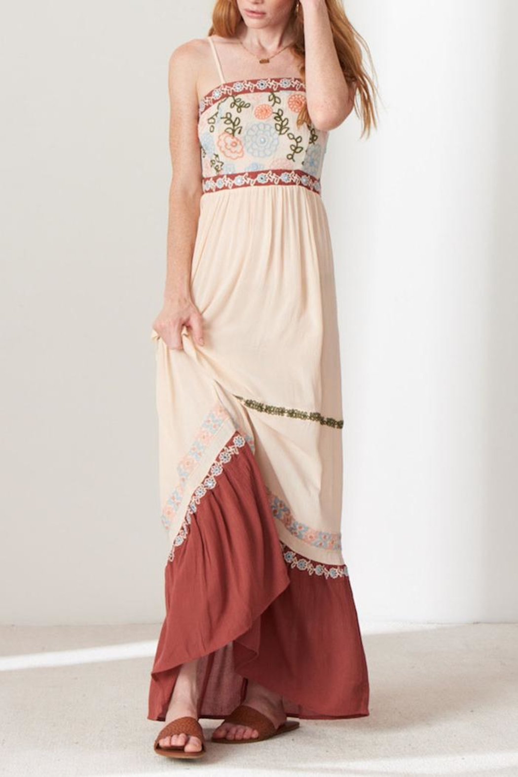 Patrons of Peace Embroidered Maxi Dress - Main Image