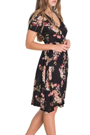 Patrons of Peace Floral Faux Wrap Dress - Product Mini Image