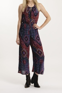 Patrons of Peace Printed Halter Jumpsuit - Product List Image