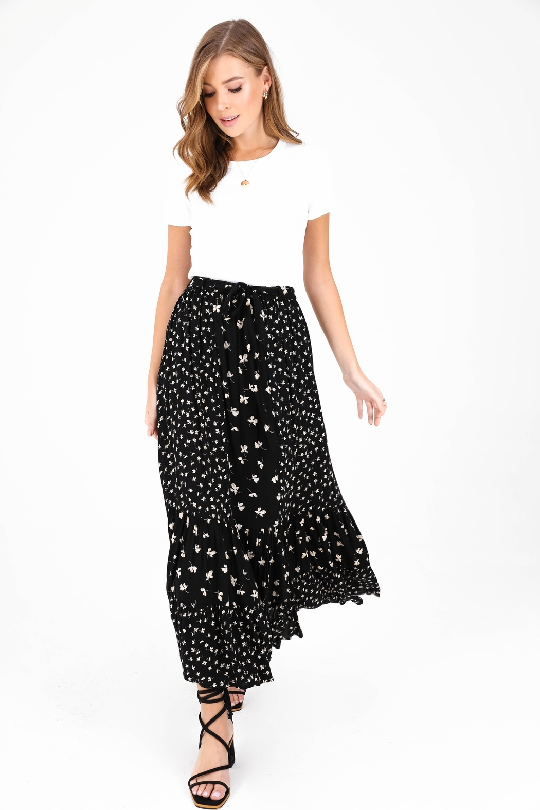 Patrons of Peace Mariposa Floral Skirt - Side Cropped Image