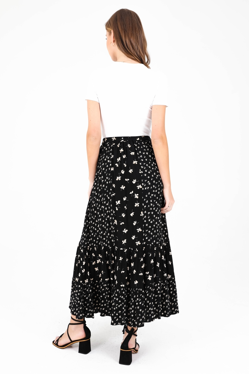 Patrons of Peace Mariposa Floral Skirt - Front Full Image