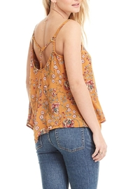 Patrons of Peace Yellow Floral Top - Side cropped