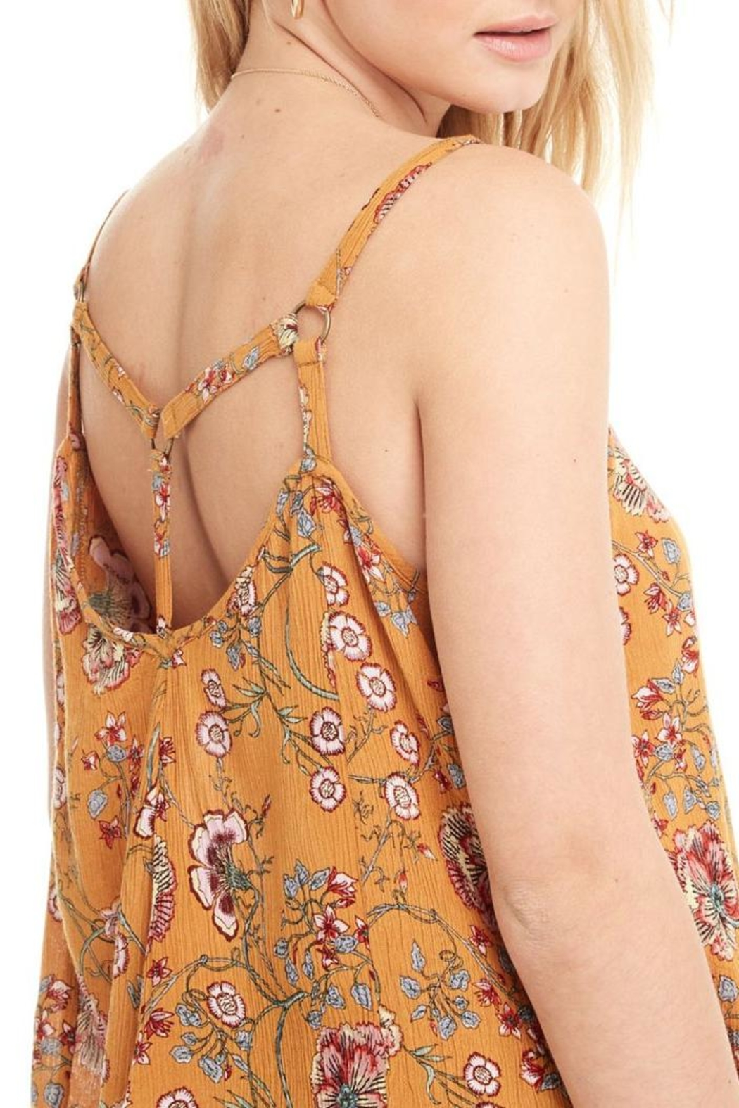 Patrons of Peace Yellow Floral Top - Front Full Image