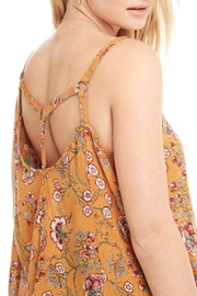 Patrons of Peace Yellow Floral Top - Front full body