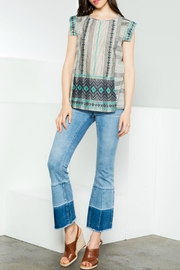 Thml Patterened Cap-Sleeve Top - Product Mini Image