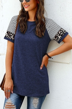 Shoptiques Product: Pattern Block Sleeve Tee