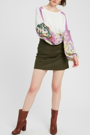 Listicle Pattern Mix Sleeve - Front full body