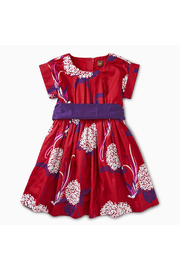Tea Collection Pattern Sash Dress - Front cropped