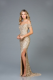 Scala Pattern Sequin Gown - Product Mini Image