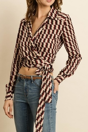 dress forum Pattern Wrap Blouse - Product Mini Image