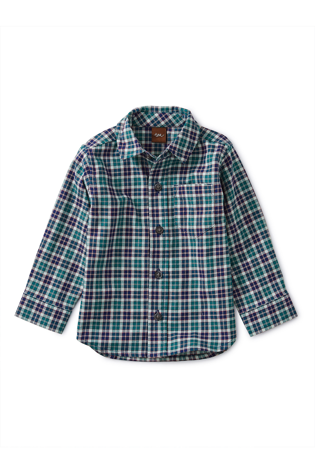 Tea Collection Patterned Button Up Baby Shirt - Main Image