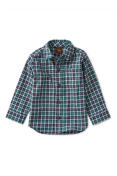 Shoptiques Product: Patterned Button Up Baby Shirt