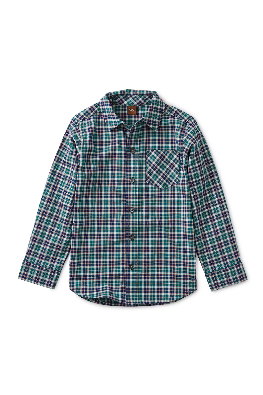 Tea Collection Patterned Button Up Shirt - Main Image