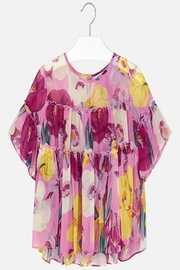 Mayoral Patterned Chiffon Blouse - Front cropped