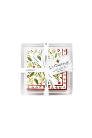 Le Cadeaux PATTERNED COCKTAIL NAPKINS WITH ACRYLIC TRAY - Front cropped