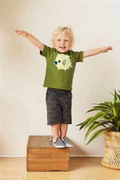 Tea Collection Patterned Cruiser Baby Shorts - Alternate List Image