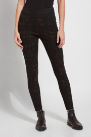 Lysse Patterned Denim Legging - Product Mini Image