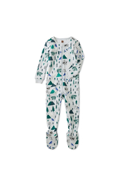 Tea Collection Patterned Footed Pajamas - Front cropped