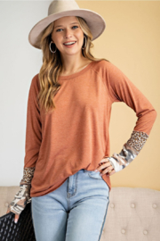 easel  Patterned Sleeve Knit - Product Mini Image