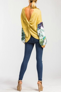 Cherish Patterned Sleeve Top - Alternate List Image