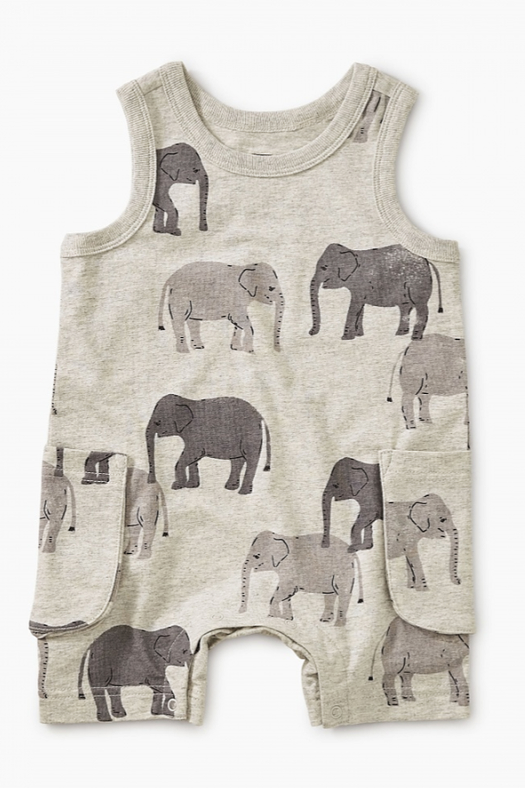 Tea Collection Patterned Tank Romper - Main Image