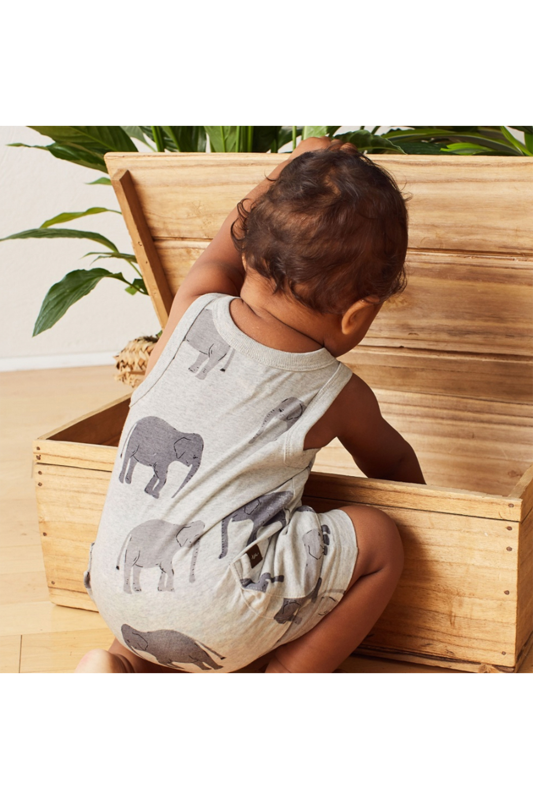 Tea Collection Patterned Tank Romper - Side Cropped Image