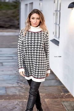 Skovhuus Patterned Turtle Neck Sweater - Alternate List Image