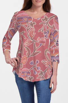 Whimsy Rose Patterns at Play - V-Neck Flowy T - Product List Image