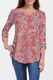Whimsy Rose Patterns at Play - V-Neck Flowy T - Product Mini Image
