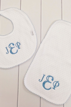 Shoptiques Product: Customized Bib And Burp Set