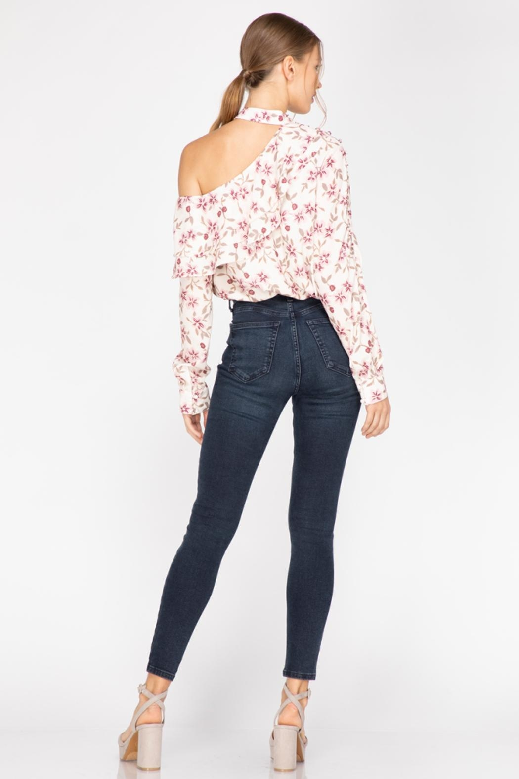 Adelyn Rae Patyon One-Shoulder Blouse - Side Cropped Image
