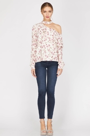 Adelyn Rae Patyon One-Shoulder Blouse - Front cropped