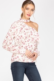 Adelyn Rae Patyon One-Shoulder Blouse - Front full body