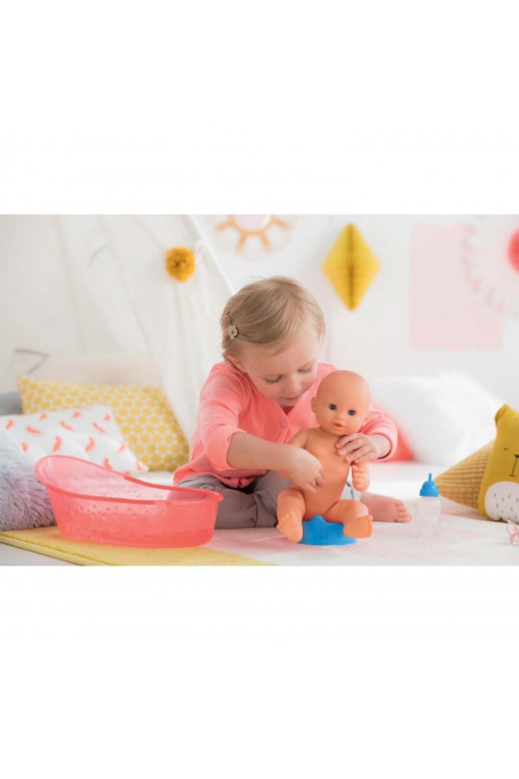 Corolle Paul Drink-And-Wet Bath Baby Doll - Side Cropped Image