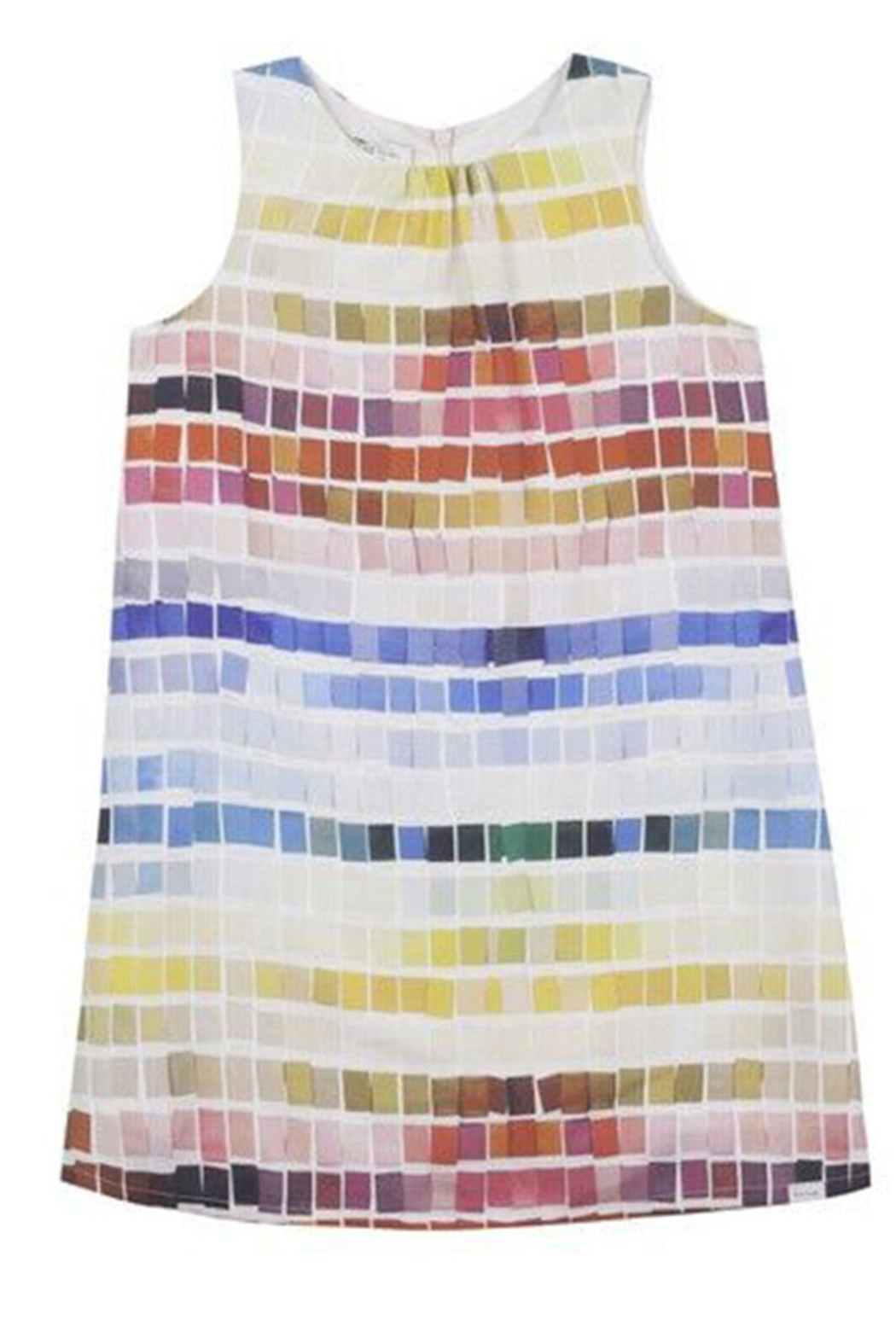 Paul Smith 8-14 Years Tile Print Dress - Front Cropped Image
