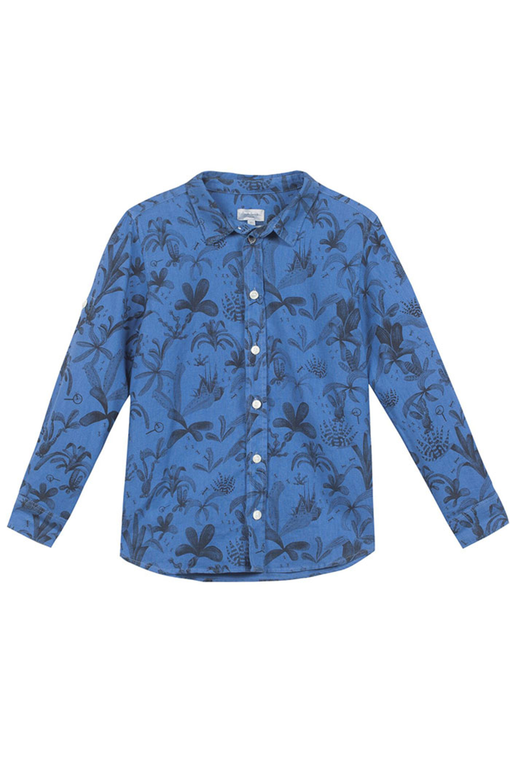 Paul Smith 10-14 Y Hawaiian Shirt - Front Cropped Image