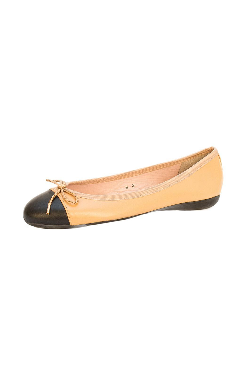 Paul Mayer Beige Ballet Flat - Front Cropped Image