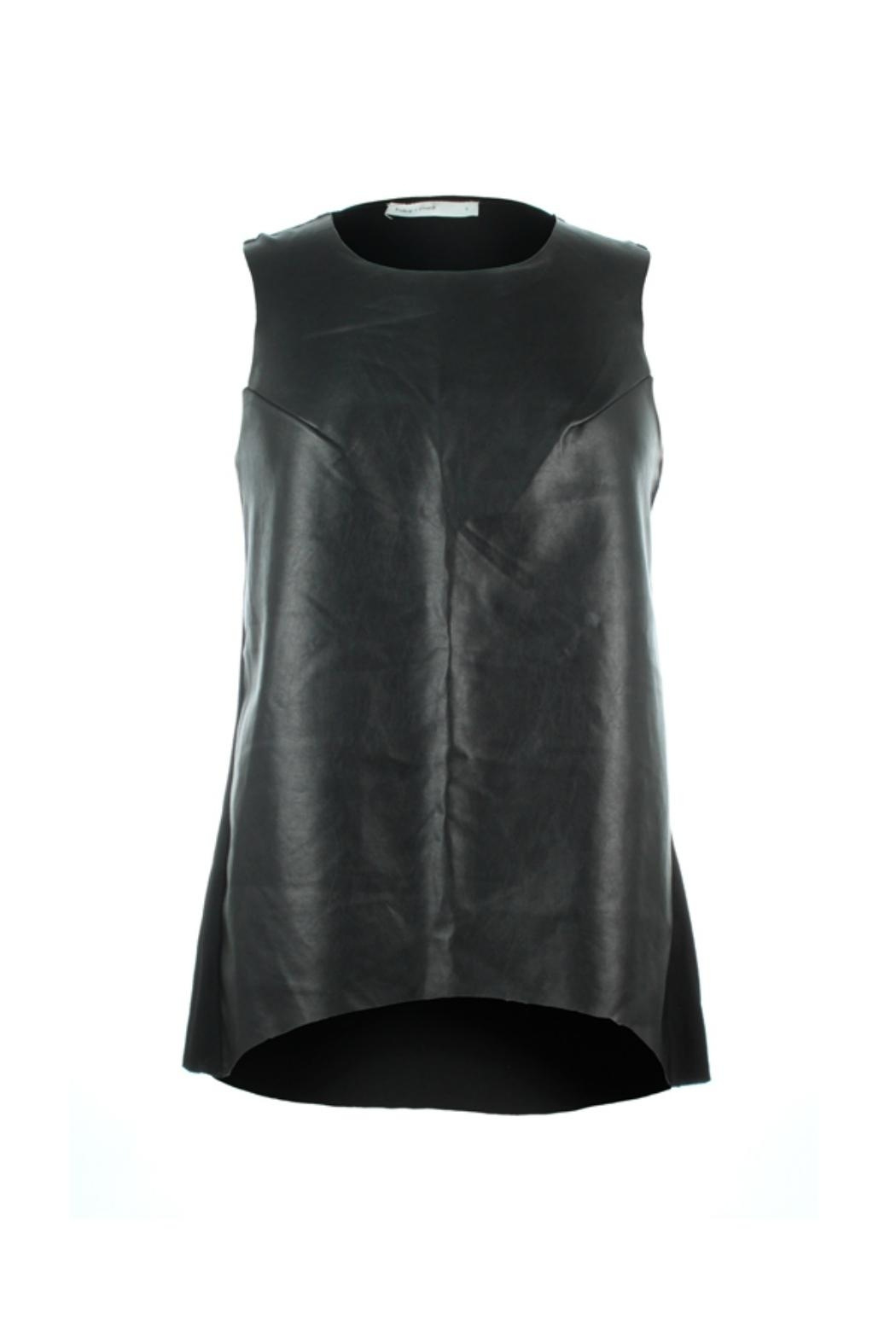 Bishop + Young Paulina Faux Leather Front Tank - Main Image