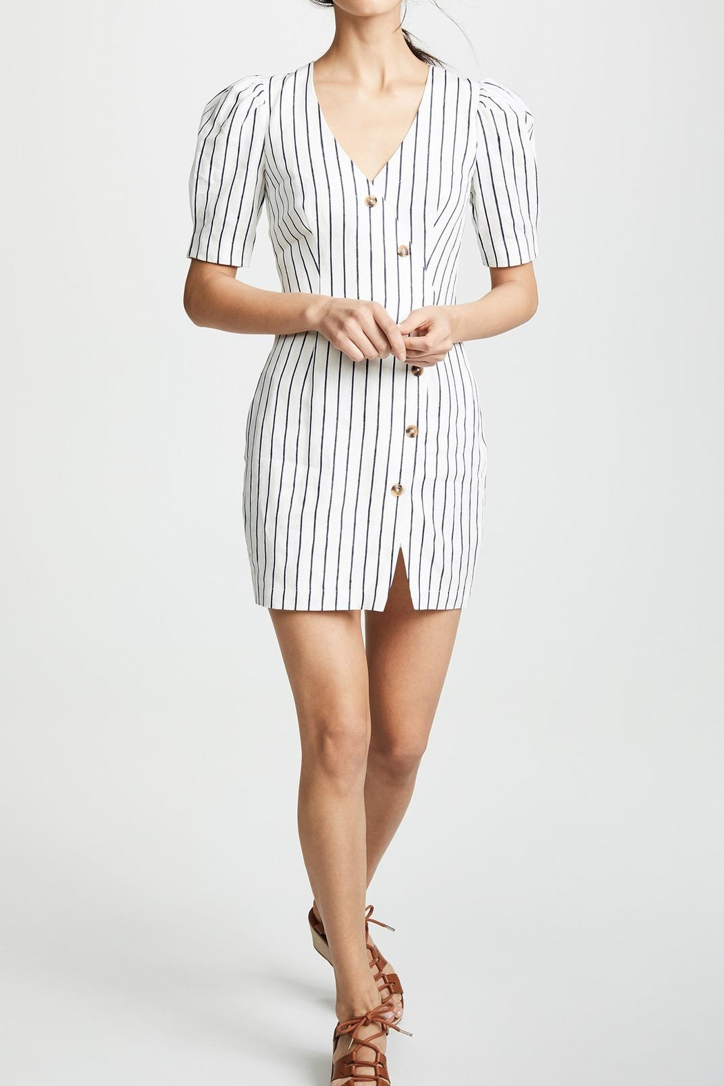 Saylor Pauline Striped Dress - Back Cropped Image