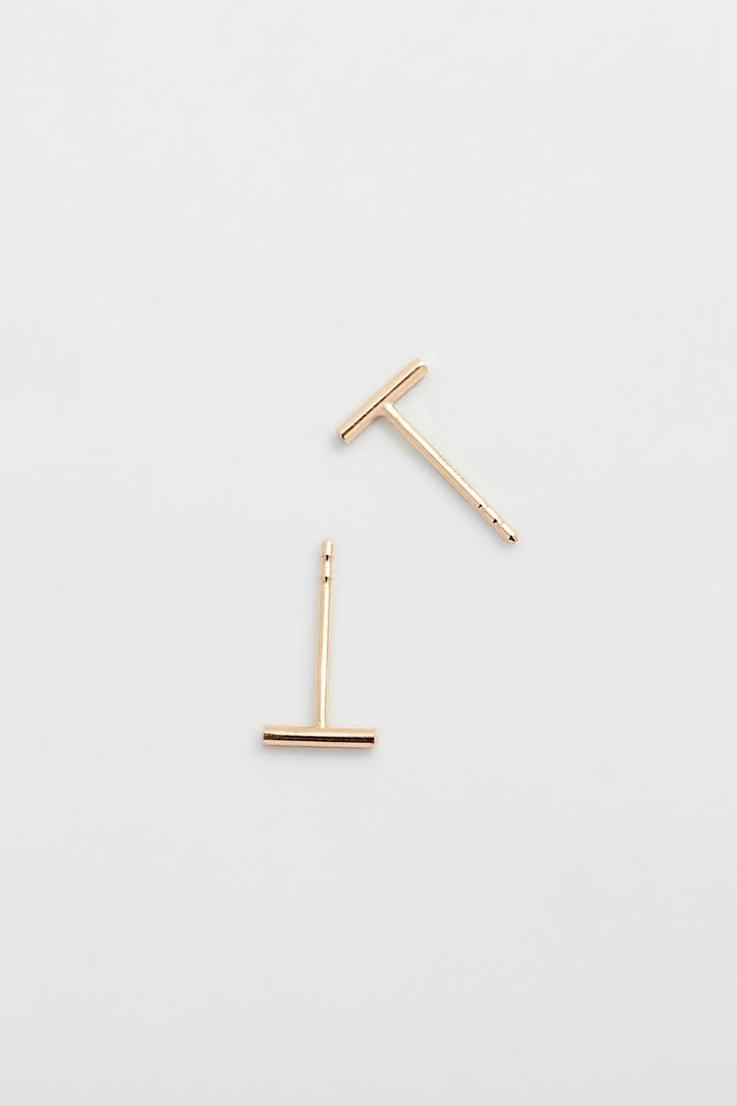 PAUZE atelier Rose Gold Earrings - Front Cropped Image